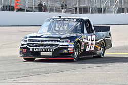 June 22, 2018 - Madison, Illinois, U.S. - MADISON, IL - JUNE 22:  Josh Reaume (33) driving a Chevrolet for Colonial Countertops warms up before  the Camping World Truck Series - Eaton 200 on June 22, 2018, at Gateway Motorsports Park, Madison, IL.   (Photo by Keith Gillett/Icon Sportswire) (Credit Image: © Keith Gillett/Icon SMI via ZUMA Press)