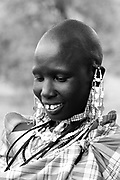 TANZANIA. Longido Mountain Area..August 3rd 2009..A Maasai women..