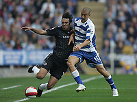 Photo: Lee Earle.<br /> Reading v Chelsea. The Barclays Premiership. 14/10/2006. Chelsea's Paulo Ferreira (L) battles with James Harper.