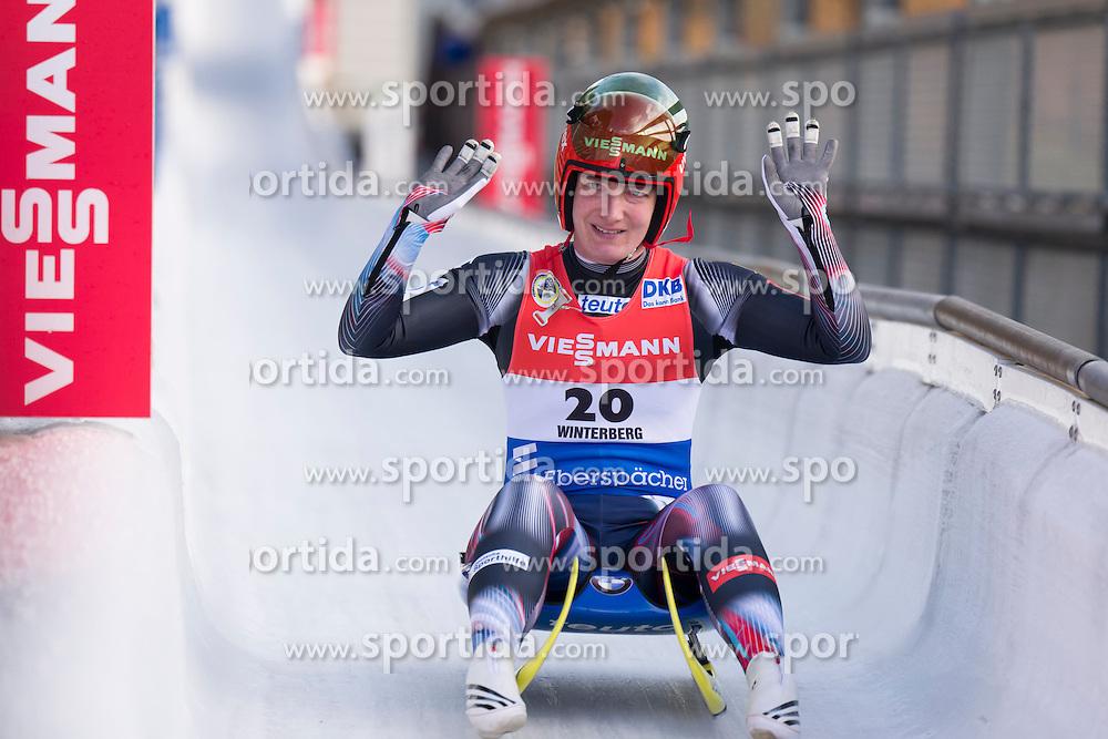 26.11.2016, Winterberg, GER, Viessmann Rennrodel Weltcup, Winterberg, Damen, Einsitzer, im Bild Tatjana Huefner GER // during women's single seater of Viessmann Luge World Cup. Winterberg, Germany on 2016/11/26. EXPA Pictures &copy; 2016, PhotoCredit: EXPA/ Rolf Kosecki<br /> <br /> *****ATTENTION - OUT of GER*****