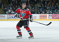 KELOWNA, CANADA - NOVEMBER 24:  Cole Martin #8 of the Kelowna Rockets skates on the ice against the  Saskatoon Blades at the Kelowna Rockets on November 24, 2012 at Prospera Place in Kelowna, British Columbia, Canada (Photo by Marissa Baecker/Shoot the Breeze) *** Local Caption ***