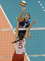 30-09-2006 VOLLEYBAL: KWALI WGP2007: TURKIJE - ITALIE: VARNA<br /> Italie wint van Turkije en plaatst zich voor WGP 2007 / Simona Rinieri<br /> ©2006: WWW.FOTOHOOGENDOORN.NL