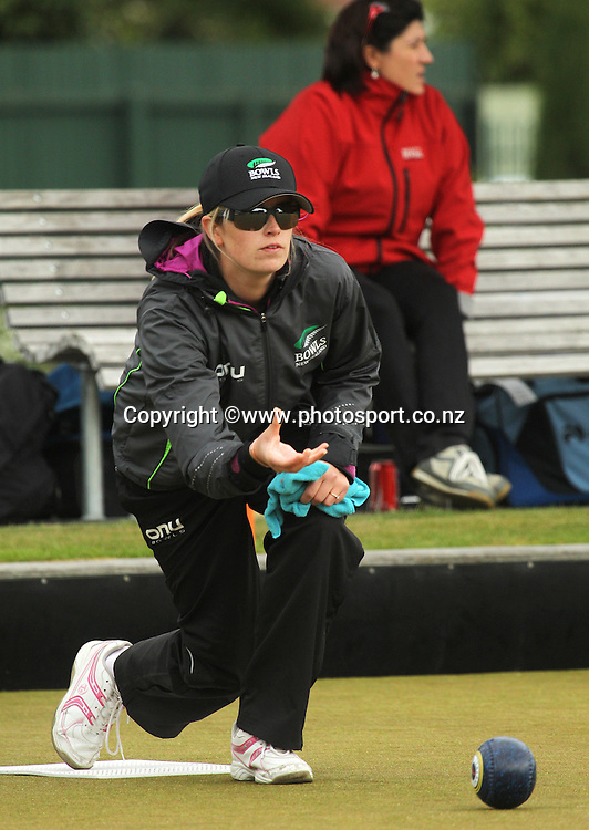 Sheryl Pearce developement player from New Zealand during the Trans Tasman Bowls Event for Senior and Development bowls players from both New Zealand and Australia held at Burnside Bowling Club, Christchurch. 19 March 2015 Photo: Joseph Johnson/www.photosport.co.nz
