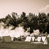 Jones Road camp and reenactment field at the Hillsborough Living History Event. All Content is Copyright of Kathie Fife Photography. Downloading, copying and using images without permission is a violation of Copyright.