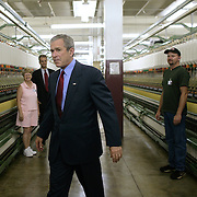 Pres. Bush tours the R.L. Stowe Plant Friday, July 15, 2005, in Belmont, NC...Photo by Khue Bui