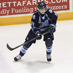 TORONTO, ON - SEP 11:  Finn Evans #16 of the St.Michael's Buzzers during the pregame warm-up. OJHL regular season game between the St.Michael's Buzzers and the Georgetown Raiders St.Michael's Buzzers and Georgetown Raiders  on September 11, 2016 in Toronto, Ontario. (Photo by Tim Bates / OJHL Images)