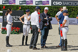 Team USA<br /> Reed Kessler, Lucy Davis, Robert Ridland, John and Beezie Madden<br /> Furusiyya FEI Nations Cup Jumping Final Round 1<br /> CSIO Barcelona 2013<br /> © Dirk Caremans