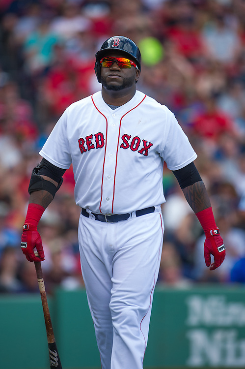 BOSTON, MA - JUNE 09: David Ortiz #34 of the Boston Red Sox looks on during the game against the Los Angeles Angels at Fenway Park in Boston, Massachusetts on June 9, 2013. (Photo by Rob Tringali) *** Local Caption *** David Ortiz