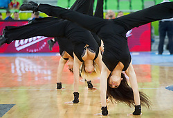 Klaipeda dancers perform during basketball match between National teams of Serbia and Slovenia in 5th to 8th place game at Day 16 of Eurobasket 2013 on September 19, 2013 in Arena Stozice, Ljubljana, Slovenia. (Photo by Vid Ponikvar / Sportida.com)