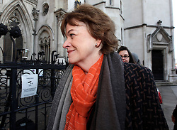 © Licensed to London News Pictures. 11/12/2012. London, U.K..GCSE English Exam CONTROVERSY. Glenys stacey of OFQUAL arrives to the  hearing at the Royal Courts of justice of a legal challenge by an alliance of pupils, schools and councils over this summer's GCSE English examinations..Photo credit : Rich Bowen/LNP