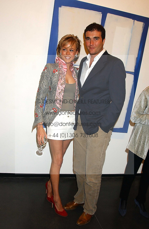 LADY ALEXANDRA SPENCER-CHURCHILL and DAVID PEACOCK at a private view of paintings by Rosita Marlborough (The Duchess of Marlborough) held at Hamiltons gallery, Carlos Place, London W1 on 9th November 2005.<br />