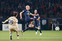 FOOTBALL - CHAMPIONS LEAGUE 2012/2013 PSG VS ZAGREB - 06/11/2012 -  JOSIP PIVARIC (ZAGREB), CHRISTOPHE JALLET (PARIS SAINT-GERMAIN)