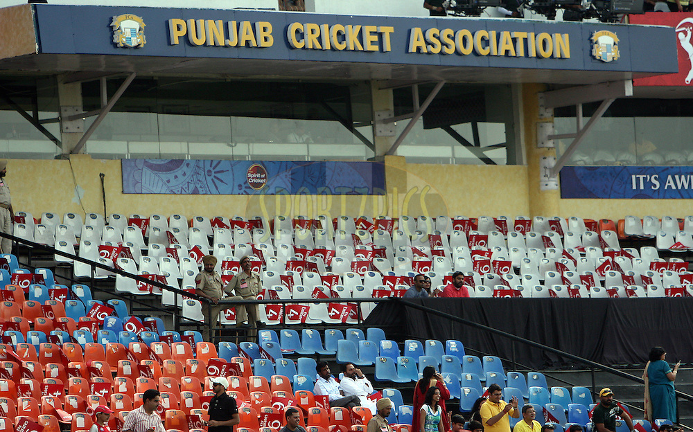 A general view of the Punjab Cricket Association stadium during match 9 of the Indian Premier League ( IPL ) Season 4 between the Kings XI Punjab and the Chennai Super Kings held at the PCA stadium in Mohali, Chandigarh, India on the 13th April 2011..Photo by Money Sharma/BCCI/SPORTZPICS