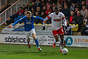 Chiedozie Ogbene (19) during the EFL Sky Bet League 1 match between Peterborough United and Rotherham United at London Road, Peterborough, England on 25 January 2020.