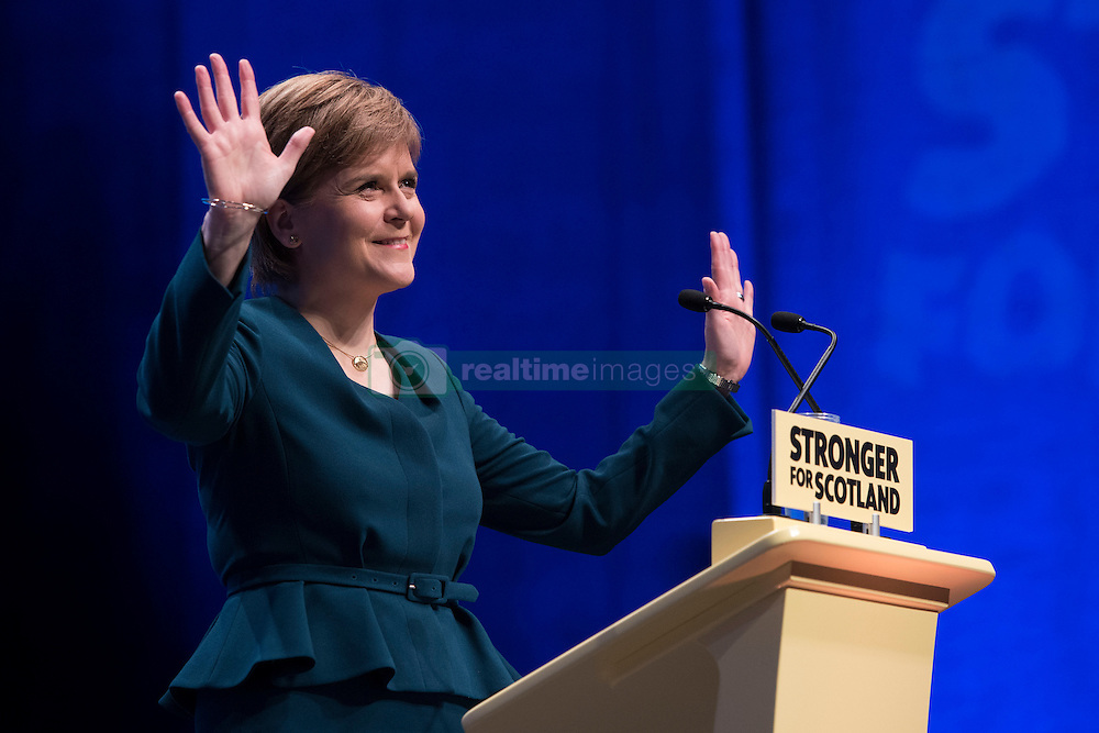 First Minister of Scotland and the leader of the Scottish National Party Nicola Sturgeon speaking as the SNP's biggest-ever conference begins in Glasgow.