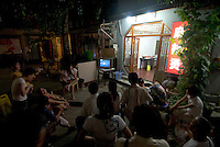 On 8/8/08 the olympic games opened in Beijing. All Beijingers with access to a tv screen were out watching the opening ceremony.