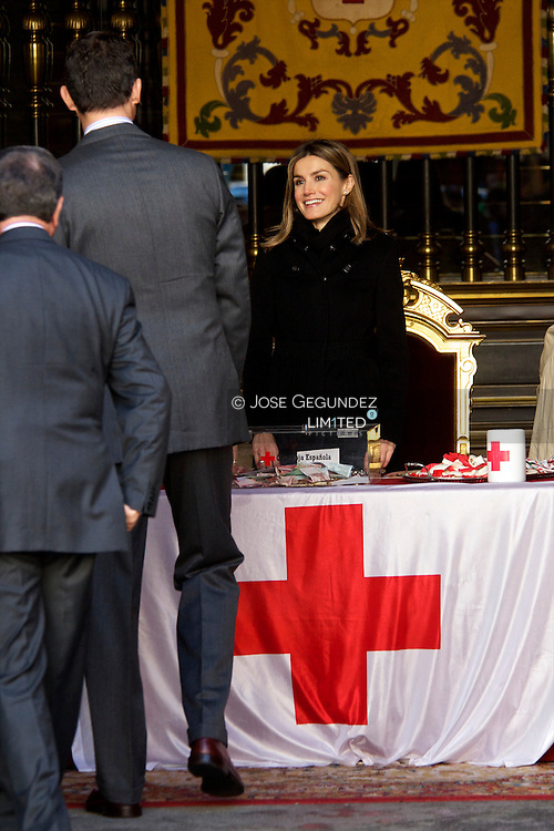 Prince Felipe and Princess Letizia attend  the Red Cross Charity Fundraising Day in Madrid