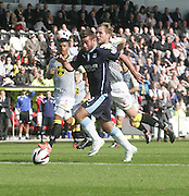 Peter MacDonald races clear to score Dundee's winner - St Mirren v Dundee, SPFL Premiership at St Mirren Park<br /> <br />  - &copy; David Young - www.davidyoungphoto.co.uk - email: davidyoungphoto@gmail.com