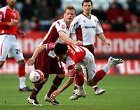 Photo: Tom Dulat/Sportsbeat Images.<br /> <br /> Charlton Athletic v Burnley. Coca Cola Championship. 01/12/2007.<br /> <br /> Burnley' Alan Mahon pushes away Charlton Athletic's Zheng Zhi