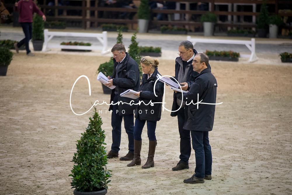 Jury, Stefan De Smet, Herman Bode, Herman Van den Broeck, Inge Meurrens<br /> BWP Hengsten keuring Koningshooikt 2015<br /> &copy; Hippo Foto - Dirk Caremans<br /> 21/01/16