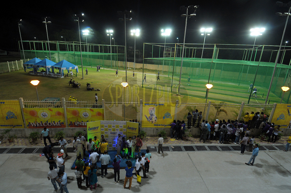 A out side view of stadium during match 21 of the Pepsi Indian Premier League Season 2014 between the Chennai Superkings and the Kolkata Knight Riders  held at the JSCA International Cricket Stadium, Ranch, India on the 2nd May  2014<br /> <br /> Photo by Arjun Panwar / IPL / SPORTZPICS<br /> <br /> <br /> <br /> Image use subject to terms and conditions which can be found here:  http://sportzpics.photoshelter.com/gallery/Pepsi-IPL-Image-terms-and-conditions/G00004VW1IVJ.gB0/C0000TScjhBM6ikg
