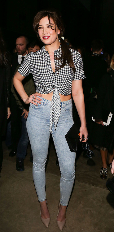 Daisy Lowe attends  Topshop Unique on day 3 of London Fashion Week February 15 2014.<br /> <br /> <br /> Photo by Ki Price