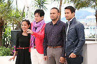 Producer Evelyn Vargas-Knaebel, actor Jacky Woo, director Adolfo Alix, Jr and actor Sam Milby at the Death March film photocall at the Cannes Film Festival 19th May 2013