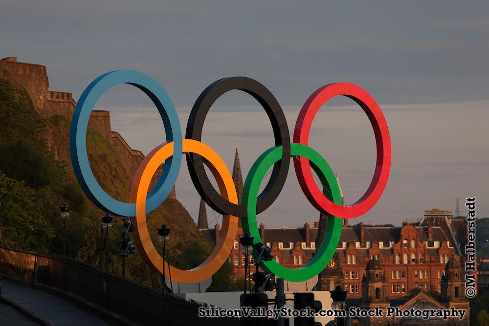 Olympic Rings, Edinburgh, Scotland, United Kingdom, Europe