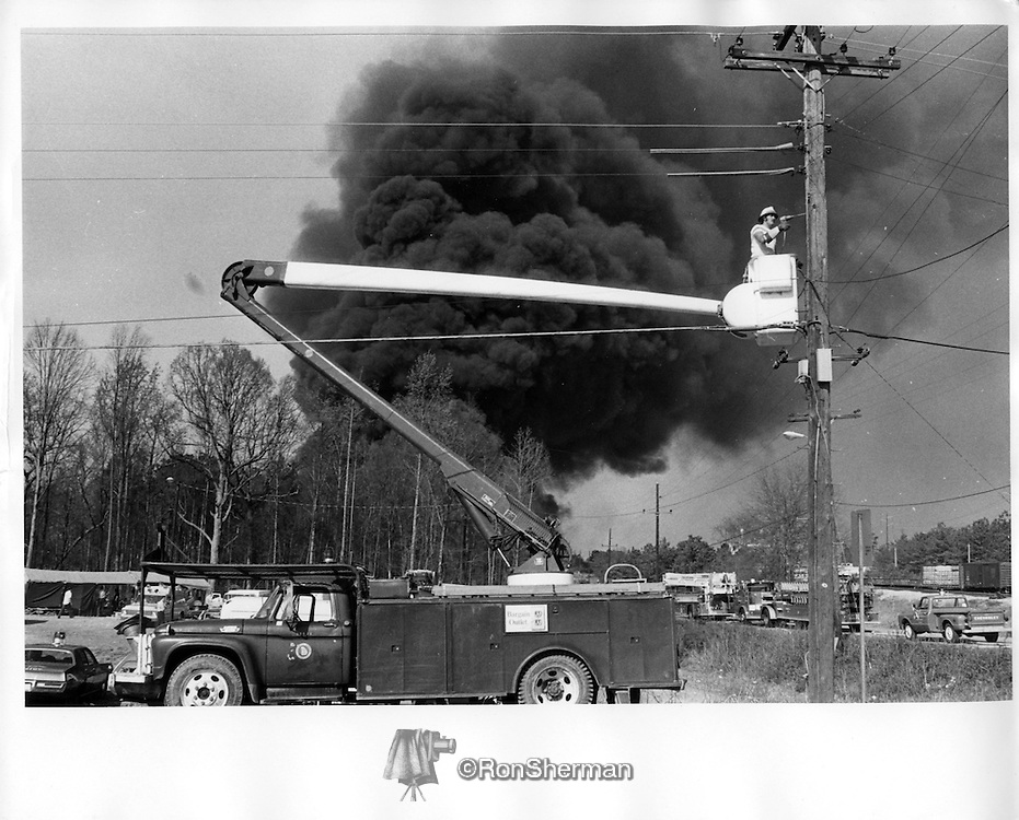 Doraville, GA Tank Farm Explosion, Apr 1972.  An explosion rocked a refinery-tank farm in the northeast Atlanta suburb today, killing one man and injuring at least four others.  Flames quickly spread to a small housing subdivision. Witnesses said one house exploded and showered the others with flames, setting them ablaze.  The area around the Triangle Refinery, is owned by Kerr-McGee Oil Co.