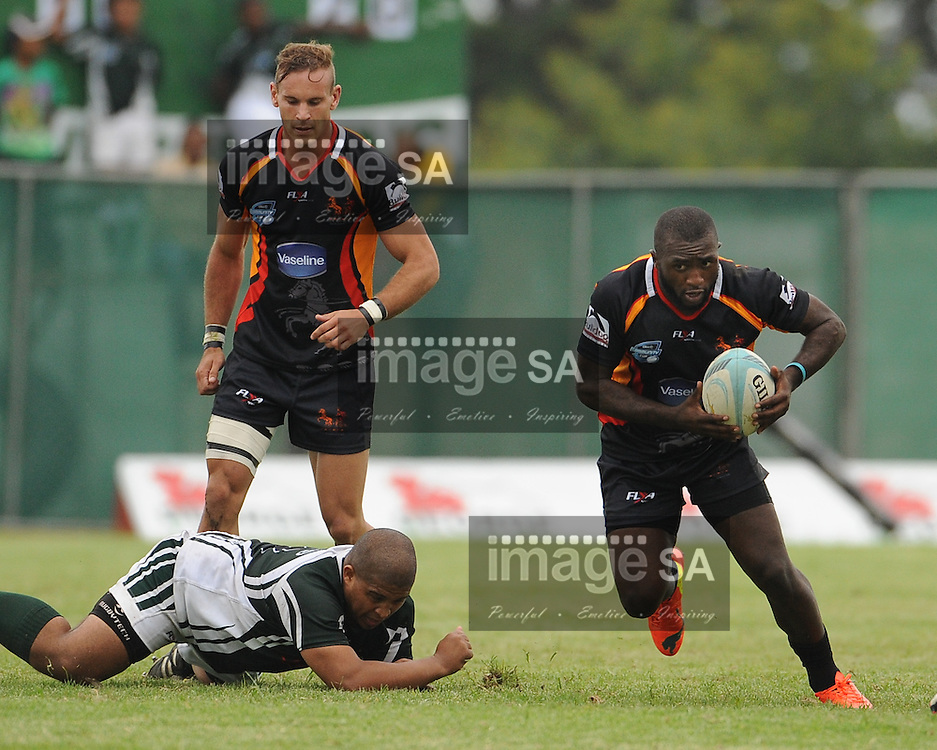 GEORGE, SOUTH AFRICA - Saturday 7 March 2015, Menzi Ngidi of Vaseline Wanderers during the third round match of the Cell C Community Cup between Pacaltsdorp Evergreens and Vaseline Wanderers at Pacaltsdorp Sports Grounds, George<br /> Photo by Roger Sedres/ImageSA/ SARU