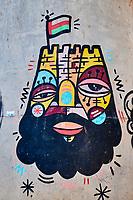 Sultanat d'Oman, gouvernorat de Ash Sharqiyah, Wadi ash Shab, fresque murale // Sultanat of Oman, governorate of Ash Sharqiyah, Wadi ash Shab, wall painting