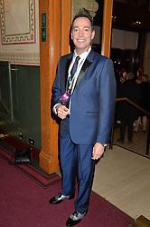 CRAIG REVEL HORWOOD at the Cirque Du Soleil's VIP performance of Kooza at The Royal Albert Hall, London on 6th January 2015.