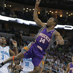 03 December 2008:  Phoenix Suns guard Sean Singletary (14) takes an off balance shot during a 104-91 victory by the New Orleans Hornets over the Phoenix Suns at the New Orleans Arena in New Orleans, LA..