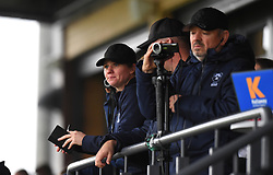 Bristol Bears Women head coach Kim Oliver watches from the grandstand at Shaftesbury Park - Mandatory by-line: Paul Knight/JMP - 26/10/2019 - RUGBY - Shaftesbury Park - Bristol, England - Bristol Bears Women v Richmond Women - Tyrrells Premier 15s