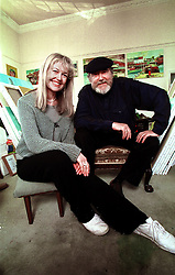 Newport, Essex home of John Bellany and his wife Helen, UK, April 21, 2000. Photo by Andrew Parsons / i-images..