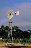 Windmill at McDowell Valley Vineyards, McDowell Valley, near Hopland, Mendocino County, California