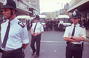 Police Observation at the,2nd Criminal Justice March, Victoria, London, UK, 23rd of July 1994.