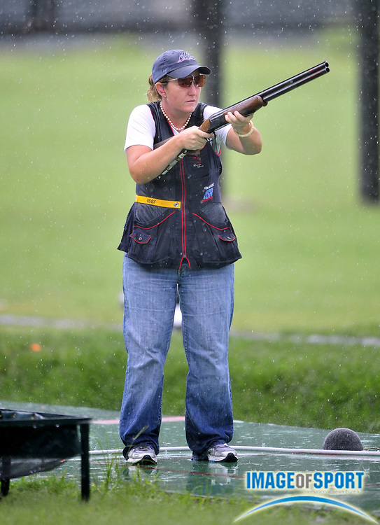 Aug 14, 2008; Beijing,CHINA; Kimberly Rhode (USA) was second in the womens skeet shooting final at the Beijing Shooting Range.