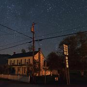 Starry Sky over House. Pocahontas County, West Virginia.