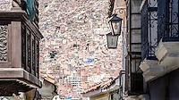 The old town of La Paz with a spectacular house-panorama