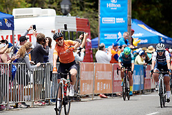 Chloe Hosking (AUS) wins Stage 1 of 2020 Santos Women's Tour Down Under, a 116.3 km road race from Hahndorf to Macclesfield, Australia on January 16, 2020. Photo by Sean Robinson/velofocus.com