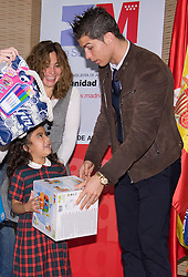 Real Madrid player Cristiano Ronaldo  distributed toys through its Foundation in the IV campaign 'At Christmas, no child without a toy', which was developed in collaboration with the Community of Madrid, December 17, 2012, SPAIN (MADRID). Photo by Oscar Gonzalez / i-Images...SPAIN OUT