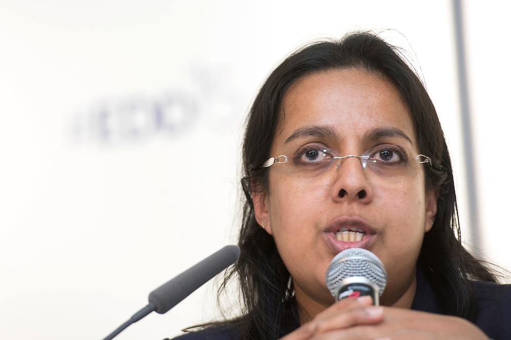 03 June 2015 - Belgium - Brussels - European Development Days - EDD - Energy - Multi-stakeholder partnerships for energy efficiency - Djaheezah Subratty<br /> Programme Officer , Energy Branch of UNEP &copy; European Union