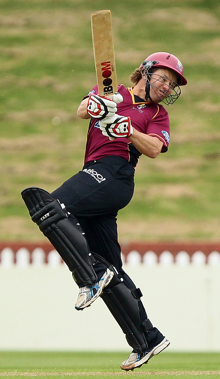 Hamish Marshall in action. Ford Trophy - Wellington Firebirds v Northern Knights, Hawkins Basin Reserve, Wellington, New Zealand on Wednesday 14 December2011. Photo: Justin Arthur / Photosport.co.nz