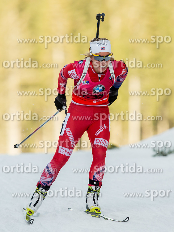 Tiril Eckhoff of Norway competes during Women 7.5 km Sprint at day 1 of IBU Biathlon World Cup 2014/2015 Pokljuka, on December 18, 2014 in Rudno polje, Pokljuka, Slovenia. Photo by Vid Ponikvar / Sportida