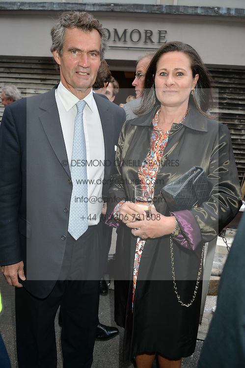 MARTIN LEGGATT and HENRIETTA, COUNTESS OF CALEDON at a private view of work & workings of Nic Fiddian Green - The Studio held at Sladmore Contemporary, 32 Bruton Place, London on 9th June 2015.