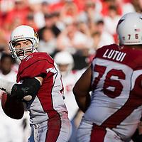 04 November 2007: Arizona Cardinals quaterback #13 Kurt Warner passes the ball during the Tampa Bay Buccaneers 17-10 victory over the Arizona Cardinals at Raymond James Stadium in Tampa, Florida, USA.