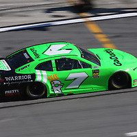 Danica Patrick, driver of the #7 GoDaddy Chevrolet drives down pit row during the 60th Annual NASCAR Daytona 500 auto race at Daytona International Speedway on Sunday, February 18, 2018 in Daytona Beach, Florida.  (Alex Menendez via AP)