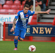 Leyton Orient midfielder Dean Cox shoots for goal during the Sky Bet League 2 match between Crawley Town and Leyton Orient at the Checkatrade.com Stadium, Crawley, England on 10 October 2015. Photo by Bennett Dean.