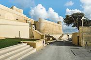 Bastion Walls, Gozo Citadel (from modern driveway to main gate)